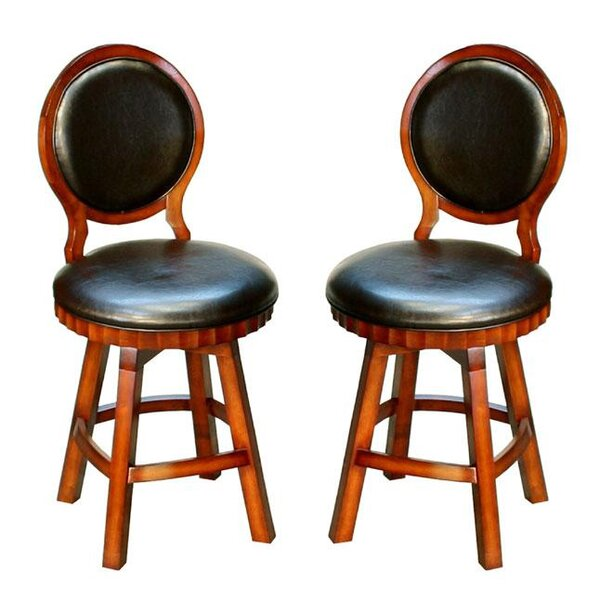 Chloris Adjustable Height Swivel Bar Stool Set Of 2 By