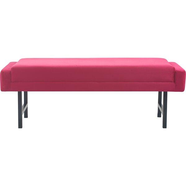 Benoit Mid Century Modern Upholstered Bench By Elle Decor
