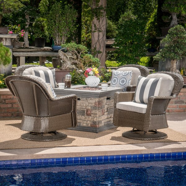 Rossville 5 Piece Seating Group with Cushions by Darby Home Co
