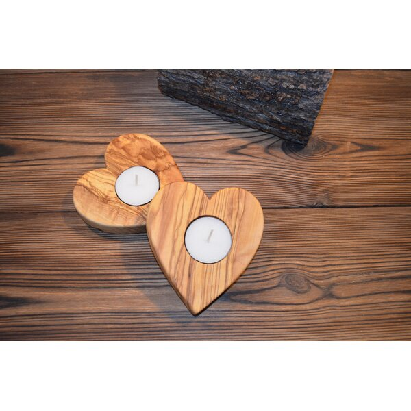 Heart Wood Candle Tealight by Pomegranate Solutions, LLC