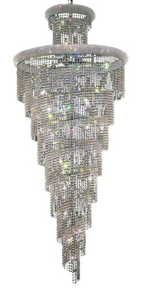 Mathilde 32-Light Crystal Chandelier by Everly Quinn