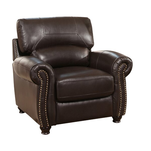 Boley Leather Club Chair by Fleur De Lis Living