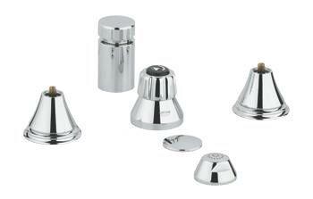Geneva Vertical Spray Bidet Faucet, Less Handles by Grohe