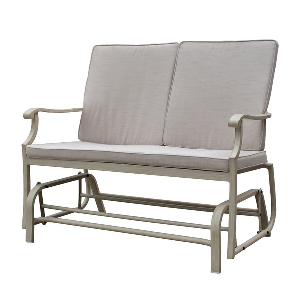 Caressa Aluminum Outdoor Double Glider Bench by Darby Home Co