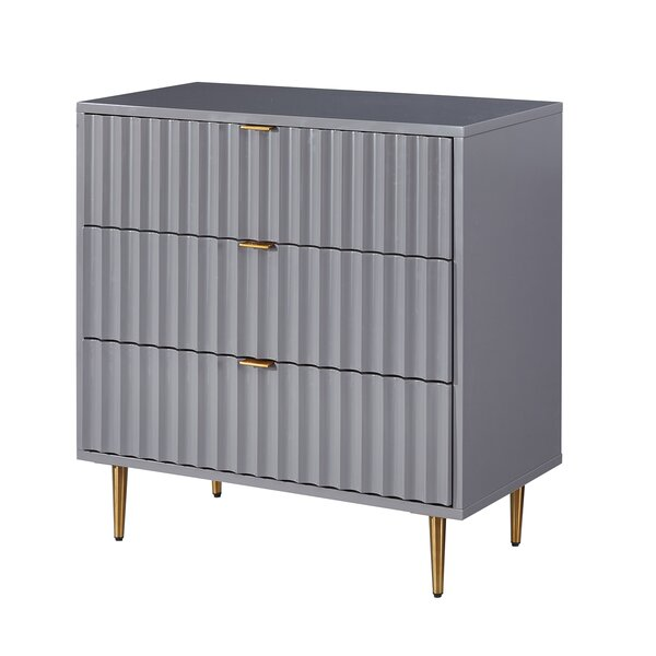 Madelia 3 Drawer Accent Chest By Everly Quinn