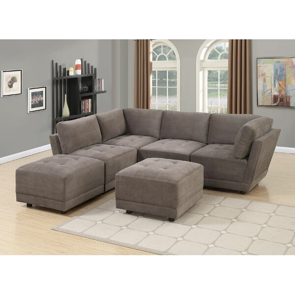 Mckenny Reversible Modular Sectional with Ottoman by Latitude Run