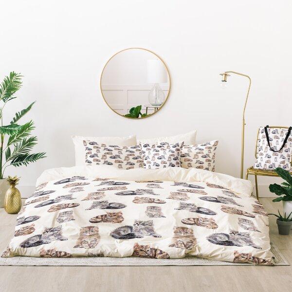 Wonder Forest Smitten Kittens Duvet Cover Set