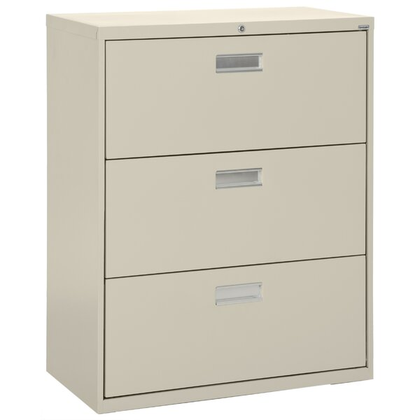 3-Drawer Lateral Filing Cabinet by Sandusky Cabinets