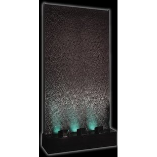 Acrylic Column Fountain with LED Light by Midwest Tropical Fountain