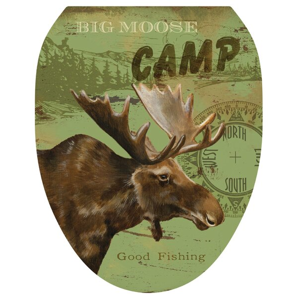 Moose Lodge Toilet Seat Decal by Toilet Tattoos