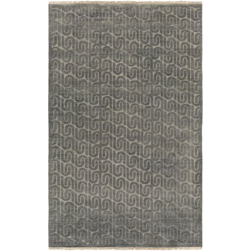 Vichy Hand-Tufted Wool Charcoal Area Rug by DwellStudio
