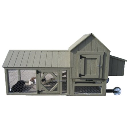 Berlin Chicken Tractor with Chicken Run by Little Cottage Company