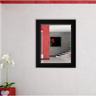 Top Nigel Rectangle Wood Framed Wall Mirror By Zipcode Design