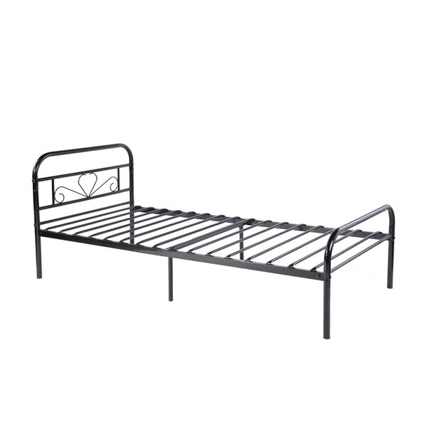Twin Size Metal Bed Frame Black by One Allium Way