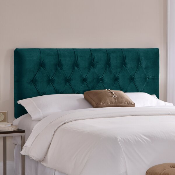 Tufted Upholstered Panel Headboard by Skyline Furniture