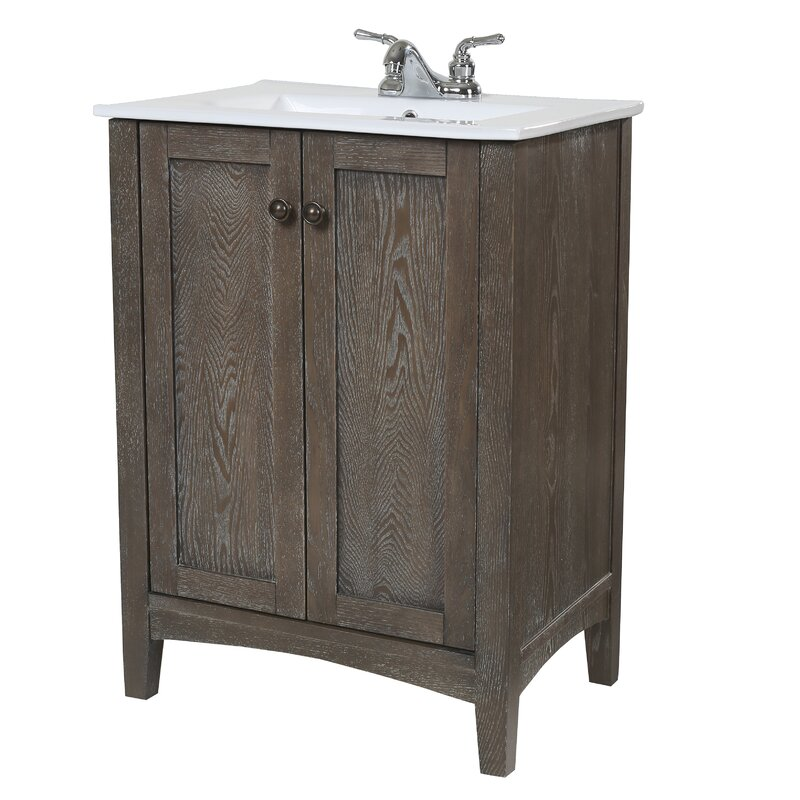 """24 Bathroom Vanities And Sinks charlton home jeremiah 24"""" single bathroom vanity set & reviews"""