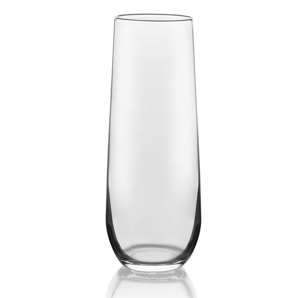 Stemless 8.5 oz. Glass Pint Glass Flute (Set of 12