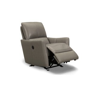 Yana Leather Power Rocker Recliner by Sofas to Go