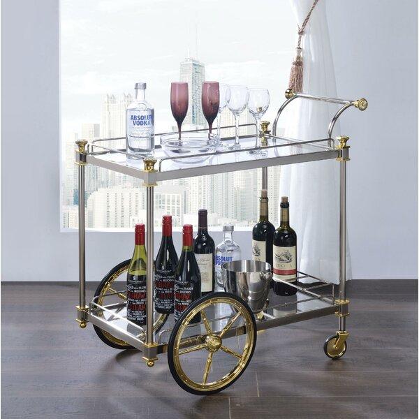Denis Metal Framed Bar Cart by Everly Quinn Everly Quinn