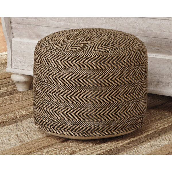 Wyndham Chevron Pouf Ottoman by Laurel Foundry Modern Farmhouse