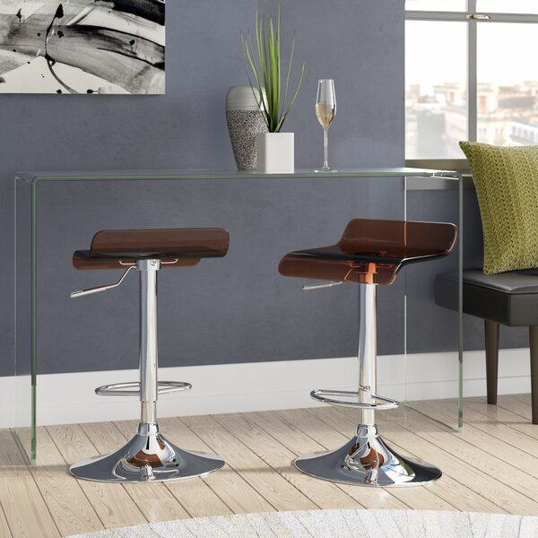 Hesiod Adjustable Height Swivel Bar Stool (Set of 2) by Brayden Studio