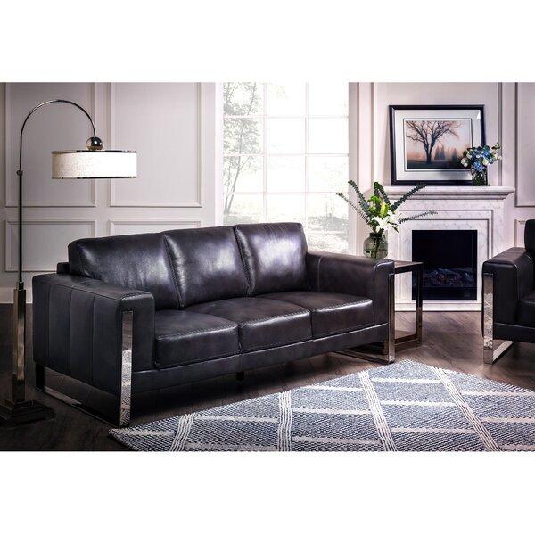 Hot Price Olivarez Leather Sofa by Orren Ellis by Orren Ellis