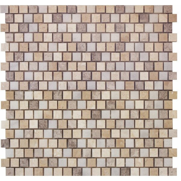 0.63 x 0.63 Marble Mosaic Tile in Indigo Soul by Ephesus Stones