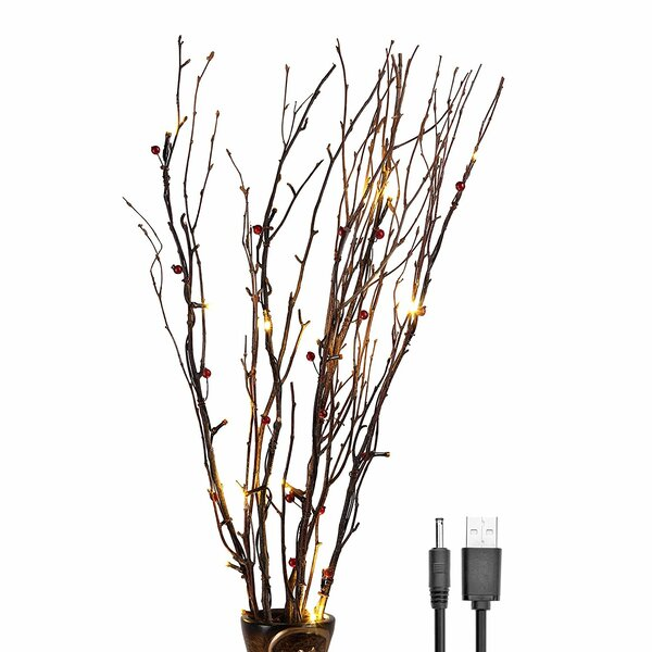 Warm LED 20 Light Natural Birch Branches by Lightshare