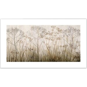 'Wildflowers Ivory' Canvas Poster by Zipcode Design