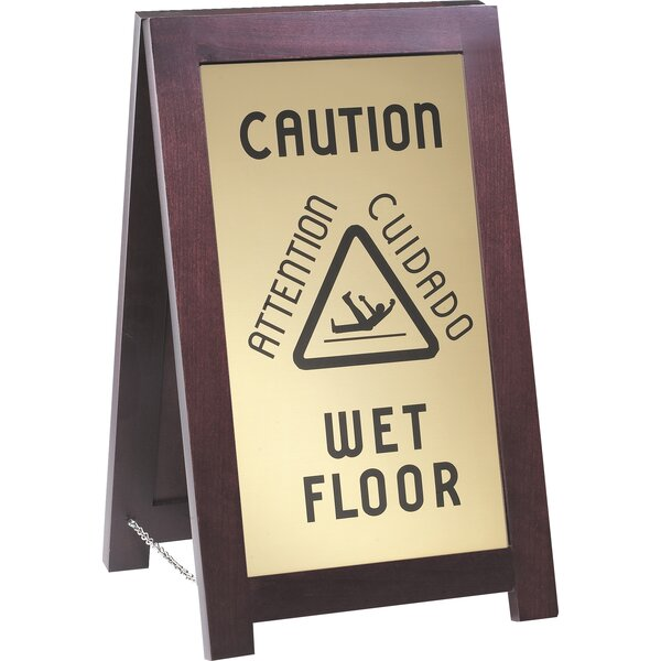 Caution Wet Sign by Cal-Mil
