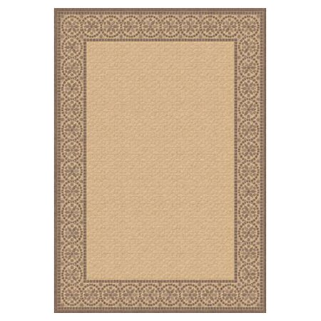 Rachael Natural/Brown Indoor/Outdoor Area Rug by Charlton Home