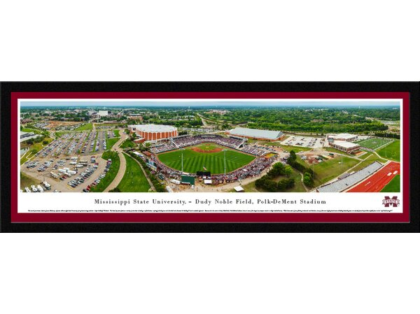 NCAA Mississippi State University - Super Bulldog Weekend by James Blakeway Framed Photographic Print by Blakeway Worldwide Panoramas, Inc