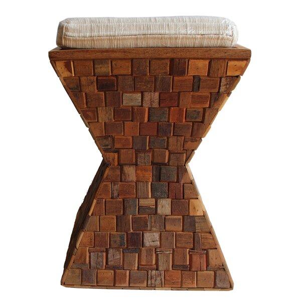 Mosaic Wood Stool by Asian Art Imports