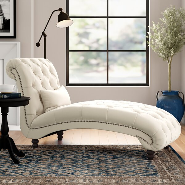 Huskins Tufted Chaise Lounge By Three Posts