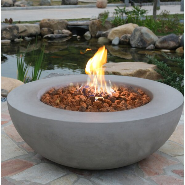 Lunar Concrete Gas Fire Pit by Elementi