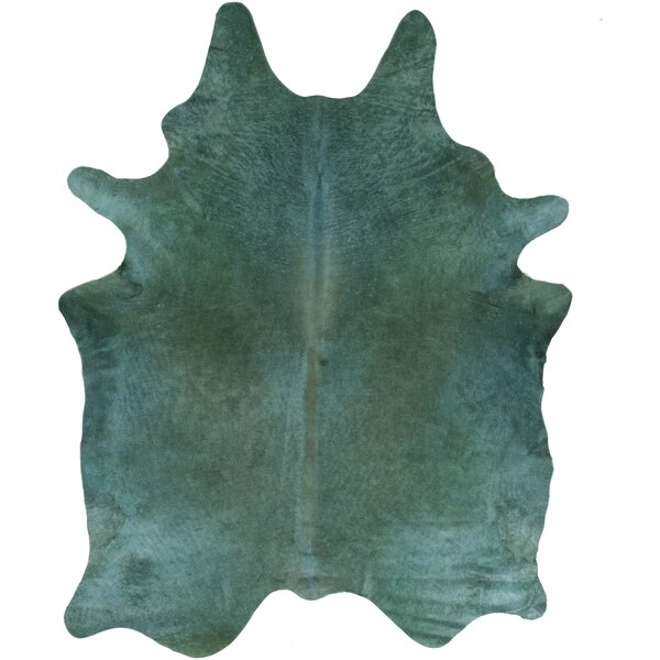 Winford Hand Woven Cowhide Blue Area Rug by Brayden Studio
