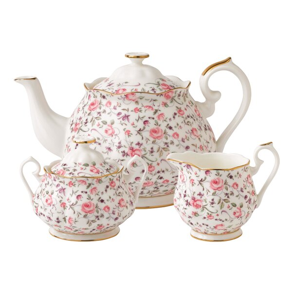 Rose Confetti 3 Piece Teapot Set by Royal Albert