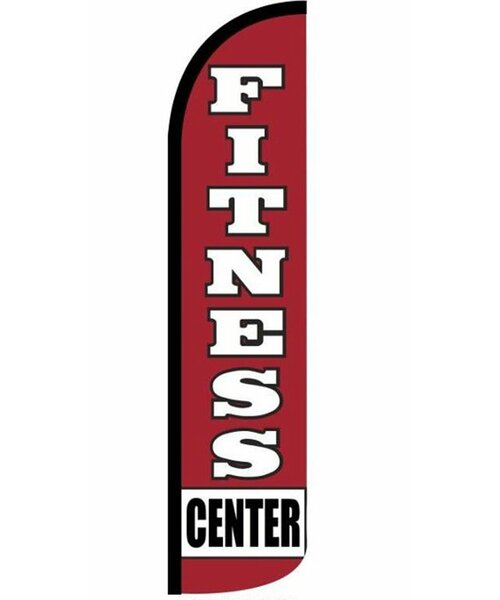 Fitness Center Polyester 15 x 3 ft. Feather Banner by NeoPlex