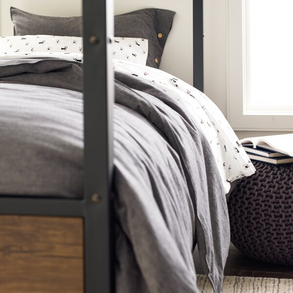 Troutville Chambray Reversible Duvet Cover Set by Greyleigh