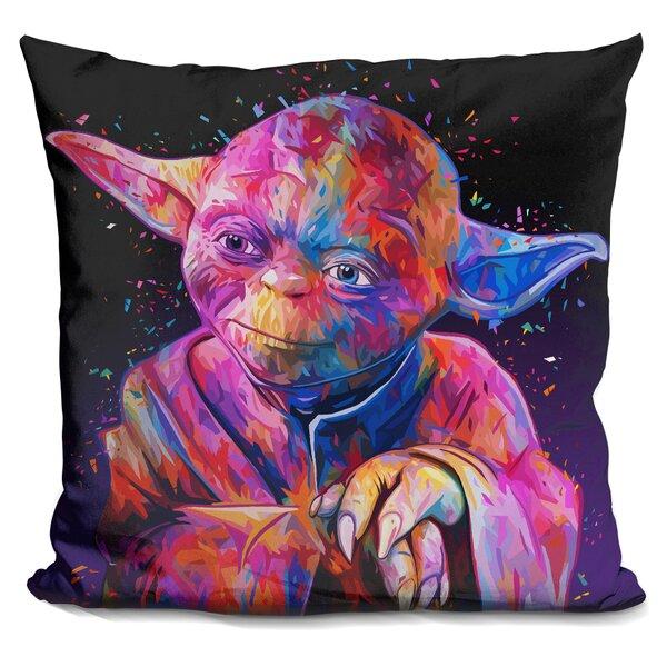 Yoda Throw Pillow by LiLiPi