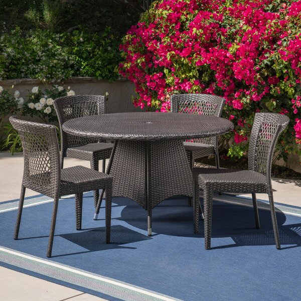 Grunewald Outdoor 5 Piece Dining Set by Charlton Home
