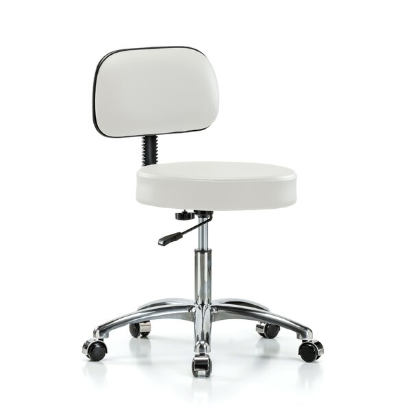 Height Adjustable Exam Stool with Basic Backrest by Perch Chairs & Stools