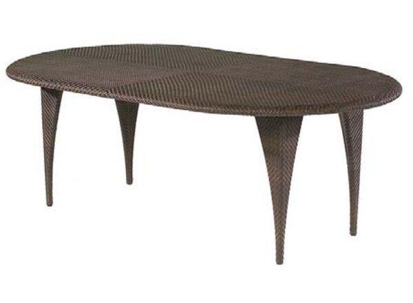 All-Weather Oval Wicker Rattan Dining Table by Woodard
