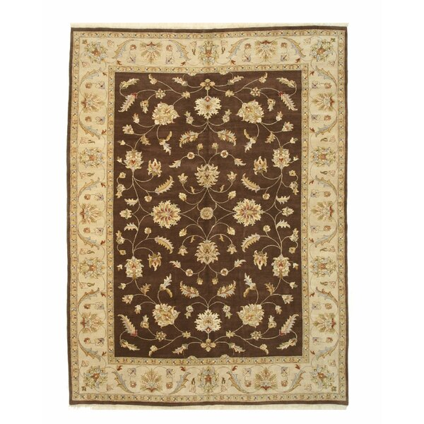 Dozier Hand-Knotted Brown/Beige Area Rug by Darby Home Co