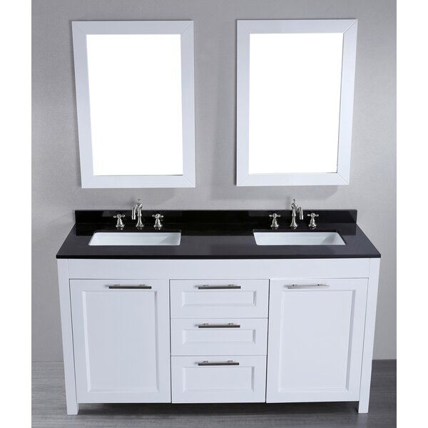 Hopewell 60 Double Bathroom Vanity Set with Mirror by Brayden Studio
