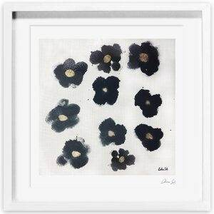 Coco's Gold Camellias Framed Painting Print by Oliver Gal