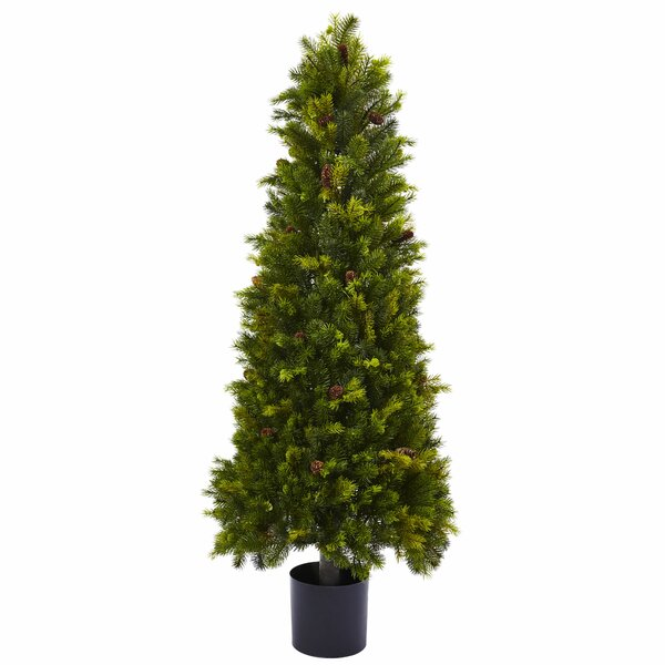 50 Green Pine Artificial Christmas Tree by Nearly Natural