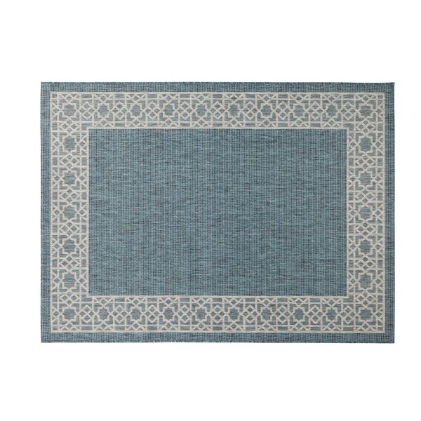 Selina Blue/Gray Indoor/Outdoor Area Rug by Breakwater Bay
