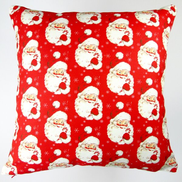Christmas Hi Santa Throw Pillow by Artisan Pillows