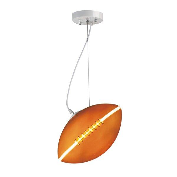 Ciaran Football 1-Light Geometric Pendant by Zoomie Kids